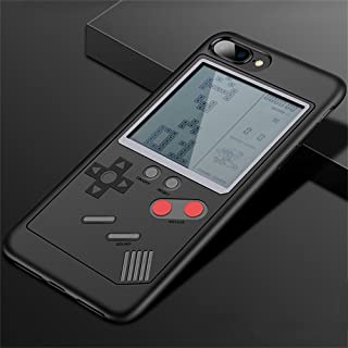 IPhone Case Tetris Game Phone Case Decompression Game iPhone 6/7/8/X Compatible - Slim Fit - Lightweight - Hard Shell - Retro Gamer Case - Retail Box Packaging (Black, for iphone 7/8 plus)