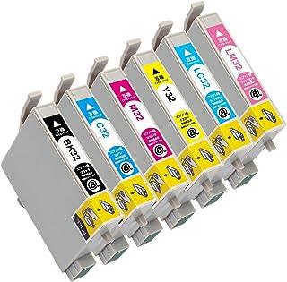 """IC32(BK/C/M/Y/LC/LM)-6色セット 【ヒマワリ】 エプソン用 互換 インクカートリッジ APEX製の最新ICチップを採用 残量表示付き 【互印製】 ISO14001、ISO9001及び国際品質規格""""STMC""""認証工場製造品"""