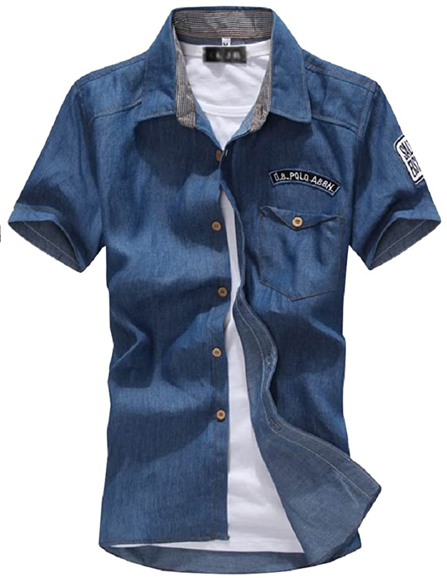 暗記する請求書のり[アルファーフープ] メンズ シャツ カットソー ジャケット アウター 半袖 アメカジ カジュアル ファッション 夏服 c32