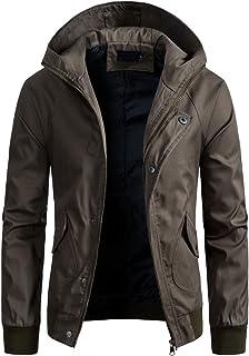 AOWOFS Mens Casual Hoodie Windbreaker Jackets Sportswear Fashion Outdoors Coat