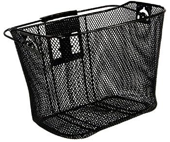 Schwinn Wire Basket for Bikes with Quick Release Black  Medium