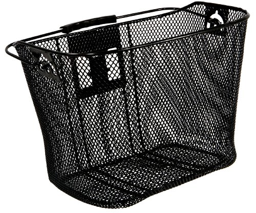 Schwinn Wire Basket for Bikes with Quick Release, Black , Medium