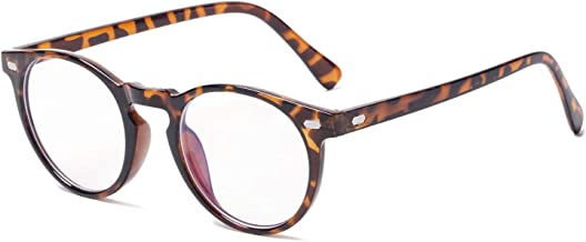 Vintage Round Eyeglasses Blue Light Blocking Glasses Anti Blue Ray Computer Game Glasses Stylish Clear Lens Frame Glasses