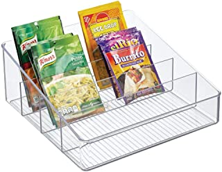 mDesign rangement de cuisine spacieux – boite de rangement pour soupes en sachet, épices, etc. – porte-épices en plastique...