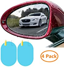 Car Rear View Mirror Waterproof Protective Film Anti Glare Anti Fog Rainproof Film 4 Pack HD Nano Anti-Scratch Rain-Proof Anti Water Mist Film