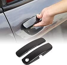 for Challenger Inner Door Handle Trim for Dodge Challenger 2012 up (Carbon Fiber Grain)