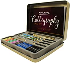 Calligraphy Pens Set by Mont Marte, Best Calligraphy Set for Beginners&Kids-33Pieces-2Pack, Includes Calligraphy Pens, Calligraphy Nibs, Ink Cartridges, and Exercise Workbook