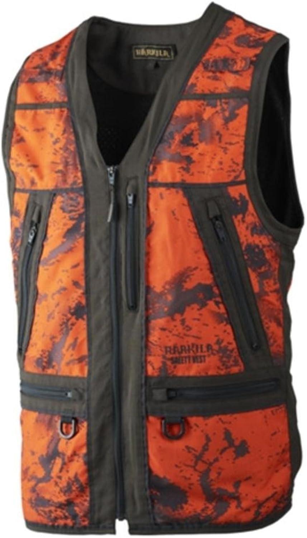 Harkila Lynx Safety waistcoat AXIS MSP orange Blaze Shadow brown