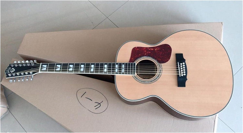 Guitarra AAA Actualice Todos los sólidos 12 Cuerdas F512 Guitarra 12 String Acoustic Electric Guild Style Guitar Apto para Jugadores en Todas Las etapas. Guitarra de Madera AMINÍ
