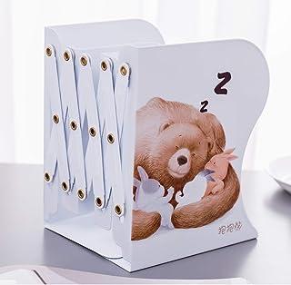 Sujetalibros retráctil Estirable estante para libros abrazo oso / papelería ajustable estantería de almacenamiento de oficina material de aprendizaje para estudiantes soporte portátil para libros