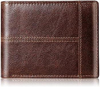 Swallowmall Genuine Leather RFID Thin Bifold Men's Wallets