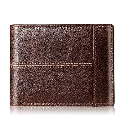 Amazon - Save 67%: Mens Wallet Slim Genuine Leather RFID Thin Bifold Wallets For Men Minimali…