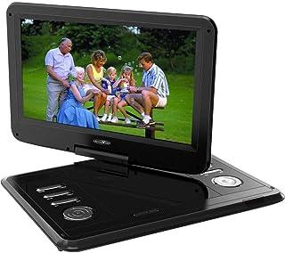 Reflexion DVD1217 Tragbarer 29,5 cm (11,6 Zoll) DVD Player mit DVB T2 HD Tuner, Fernbedienung, 12V Adapter, USB, 230V Netzteil, DVBT Antenne, schwarz