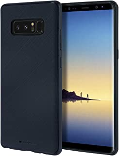 Goospery Style Lux Jelly for Samsung Galaxy Note 8 Case (2017) Thin Slim Bumper Cover (Navy Blue) NT8-STYL-NVY
