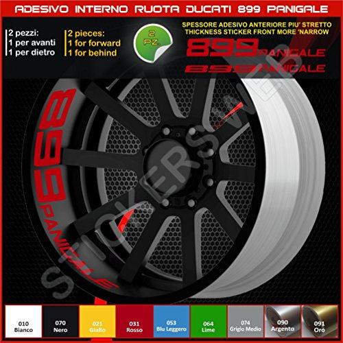 Ducati 0214 031 031 Rouge Autocollants pour roues intérieures