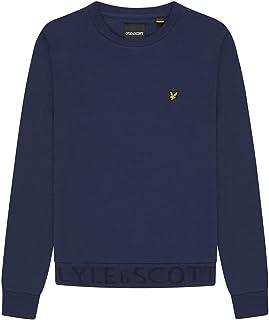 Lyle and Scott Men's Crew Neck Sweatshirt with Branding - Cotton