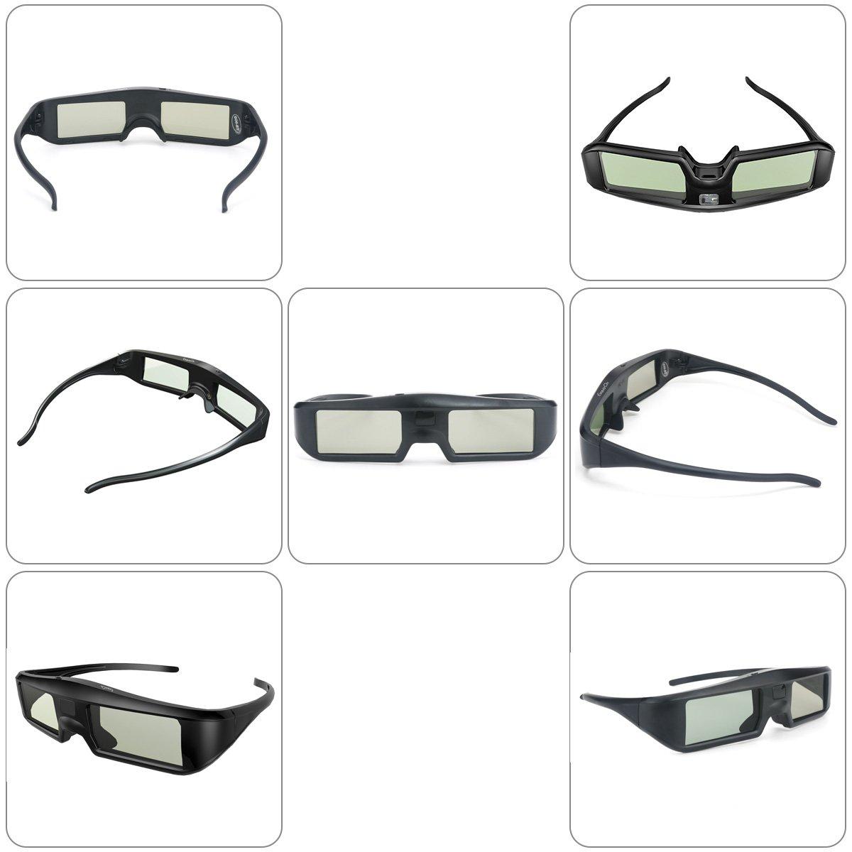 2 x Gafas 3D Bluetooth ExquizOn, Gafas 3D Universal 120Hz con ...