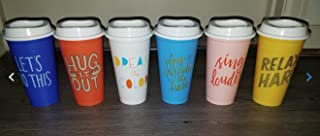 Starbucks Reusable Cup Collection Pack Of 6 W/Lids Summer 2018
