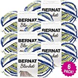 Bernat Blanket Yarn-6/Pk-Oceanside, 6/Pk, Oceanside 6 Pack