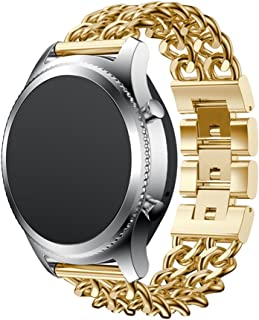 Watch Band,Cinhent Metal Chain Style Bracelet Smart Strap for Samsung Gear S3