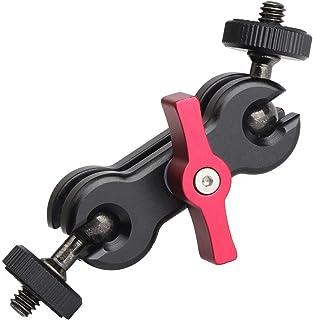 AORO 新次元 マジックアーム ダブルボールヘッド コールドヘッド 汎用 両端1/4ネジ付き カメラ デジタル一眼レフ ビデオカメラ アクセサリー 最大荷重:1kg 〔メーカー直営・1年保証付き〕