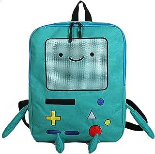 WKS Adventure Time Bmo Backpack,Anime Finn and Jake Backpack Bmo Bag Lunch Box Cartoon Robot High-grade