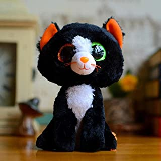 Lifelike, fun and interesting Big Eyes Collection Series Black Cats Plush Toys Cute Bombay Stuffed Animals Soft Baby Small...