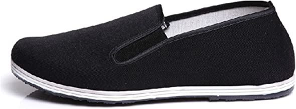 UNOW Chinese Traditional Cloth Kung Fu Shoes,Black