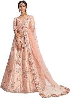 فستان زفاف نسائي هندي بتصميم وردي من الحرير ليهينغا شولي وشاح شبكي ستانغ بوليوود باكستاني 6206