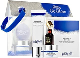 The Estée Edit Picks Go Glow: Pink Peony Overnight Water Pack, Night Repair Synchronized Recovery Complex II , Beam Team Hydrate + Glow, Stress Relief Eye Mask