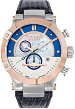 Mulco Gravity Satelite Quartz Swiss Chronograph Movement Women's Watch | Mother of Pearl Sundial Display with Rose Gold Accents | Leather Watch Band | Water Resistant