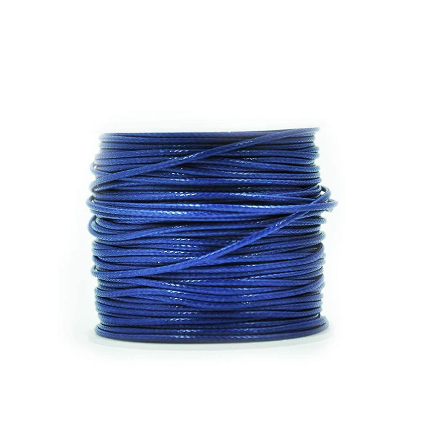 QYSM Waxed Cotton Cord Waxed Thread Cord String Strap Necklace Rope DIY Jewelry Making£?1mm (Navy)