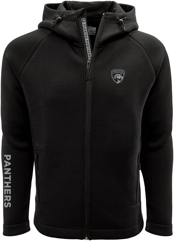 Levelwear LEY9R Men's Titan Insignia Bold Full Zip Hooded Jacket Black, XX-Large