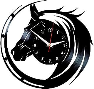 Queen Clocks Vinyl Wall Clock Horses Record Art Birthday Decorations Horse Gifts for Women