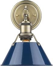 Golden Lighting 3306-BA1 AB-NVY Orwell Bath Fixture, Aged Brass