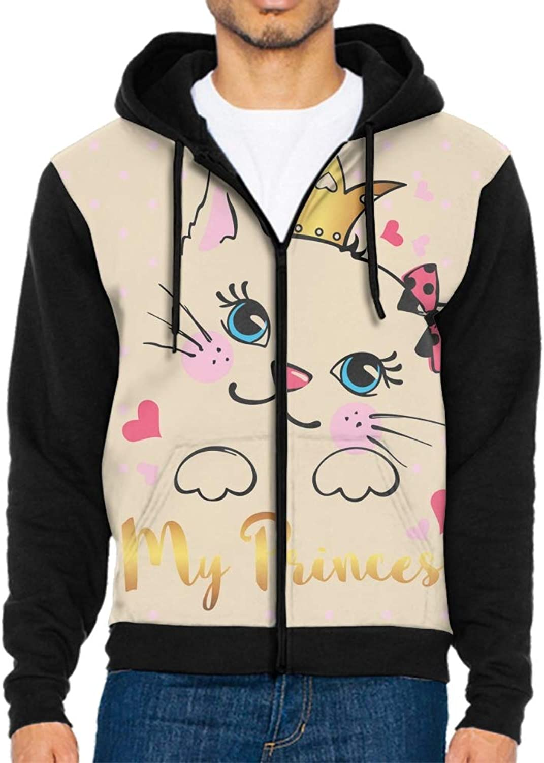 ZGGGB Unisex 3D Full Zip Hoodie Funny Cats Print Hooded Sweatshirt Jacket with Pockets SXXL