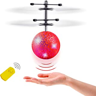 Flying Ball Toys - Light Up Ball Hover in the Air Like a Indoor Disco - Hand Control Ball Drone Helicopter with Remote Controller for 5 6 7 8 Year Old Boys and Girls Gift, Easy & Safety for Beginner