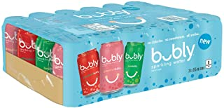 bubly Sparkling Water Variety Pack, 355 mL Cans, 24 Pack