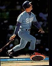 1991 Topps Stadium Club Baseball Card #159 George Brett