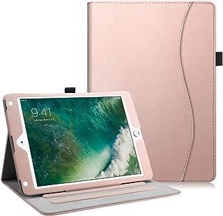 Fintie iPad 9.7 2018 2017 / iPad Air 2 / iPad Air Case - [Corner Protection] Multi-Angle Viewing Folio Cover w/Pocket, Auto Wake/Sleep for Apple iPad 6th / 5th Gen, iPad Air 1/2, Rose Gold