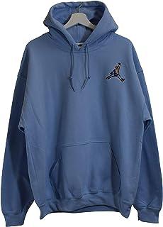 758a78377db Actual Fact Biggie x Jordan Mic Slam Dunk Light Blue Hip Hop Big Hoodie  Hooded Sweatshirt