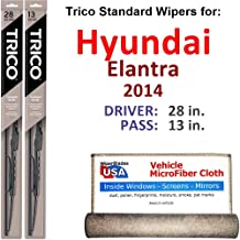 Best 2014 hyundai elantra wiper blade size Reviews