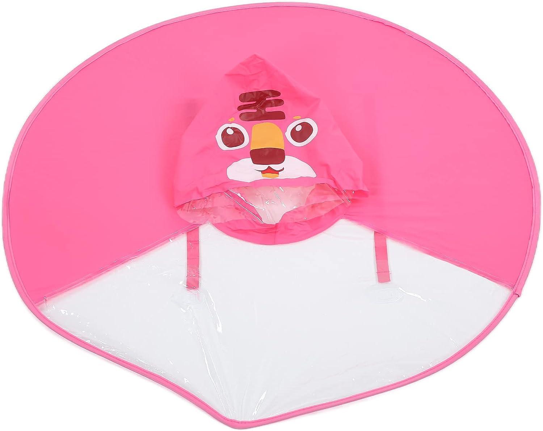 Children's Raincoat Tiger Pattern Foldable Version