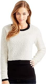 Womens Sherpa Crop Sweatshirt
