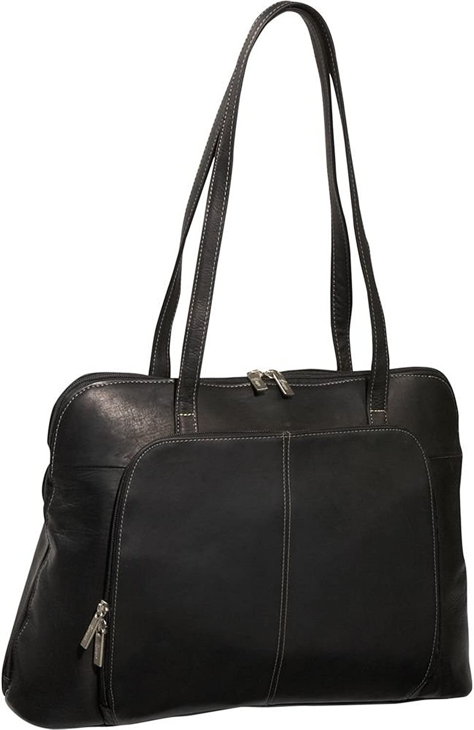 Royce Leather Women's Executive 15  Bag Briefcase Handmade in Colombian Leather Laptop Tote, Black, One Size