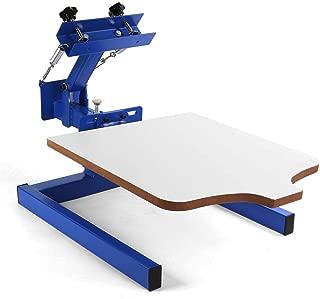 SHZOND Screen Printing Press 1 Color 1 Station Silk Screen Machine 21.7