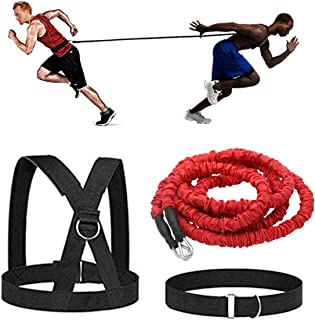 Fito Acceleration Speed Cord Resistance Bungee Band Running Training Band Equipment for Improving Speed Strength Power and Agility, 50lbs