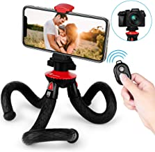 Phone Tripod, Goofoto Flexible Tripod with Wireless Remote, Smartphone/Camera Tripod, Mini Bendable Vlogging Tripod Octopus Stand Holder Compatible with iPhone, Android/Samsung Phone