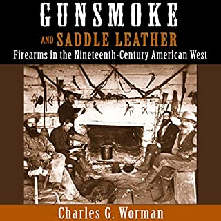 Gunsmoke and Saddle Leather audiobook cover art