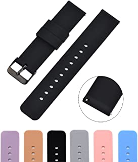 MLQSS Silicon Watch Band for Samsung Galaxy Gear,Quick Release Straps Compatible with Ticwatch/Pebble/Huawei/Amazfit Bip Standard SmartWatch
